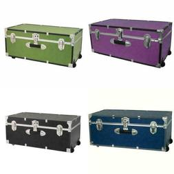 """30"""" Storage Trunk with Wheels & Lock, 8 color choices"""