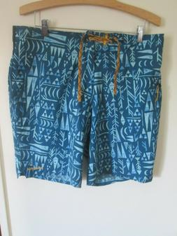 Patagonia Board Shorts Swimming Trunks Men's Size 34 Blue