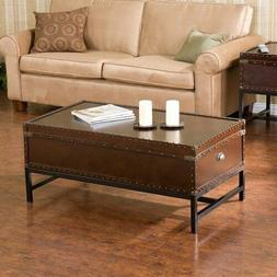 Coffee Table Cocktail Living Room Furniture Trunk Style Stor