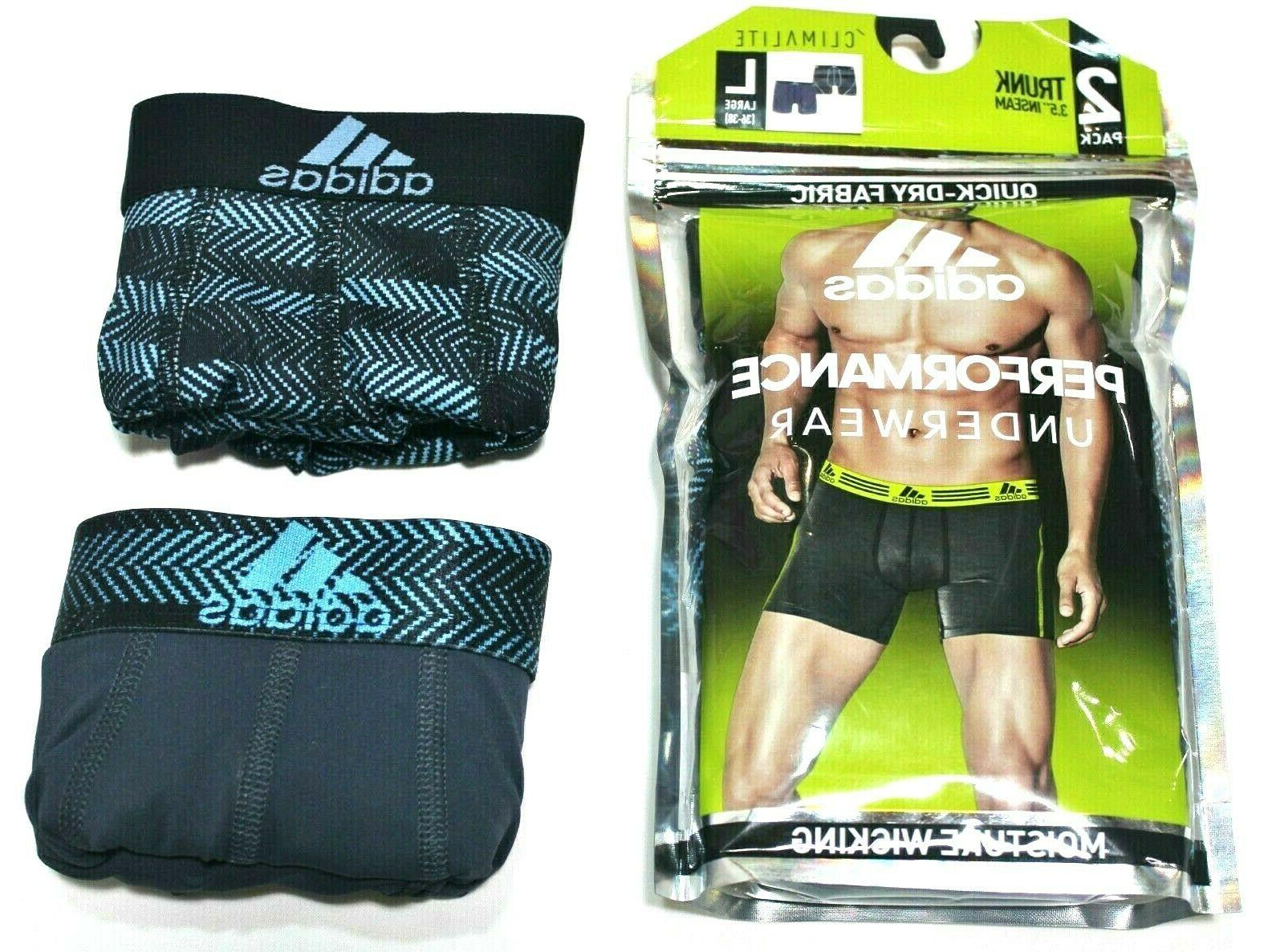 climalite performance trunk brief 2 pack blue