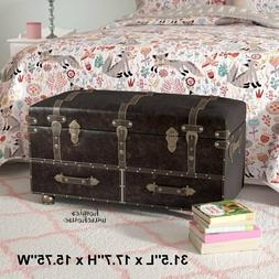 Large Treasure Chest Steamer Trunk Antiqued Coffee Table Ben