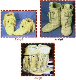 Native American Shoshone Indian Moccasin in Short & Boot Hei