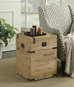 Rustic Farmhouse Trunk Side End Table Storage Chest Large Co